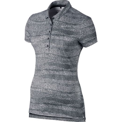 Black/White Nike Ladies Precision Zebra Print Golf Polo Shirt. Find more stylish fitness ladies outfits at #lorisgolfshoppe