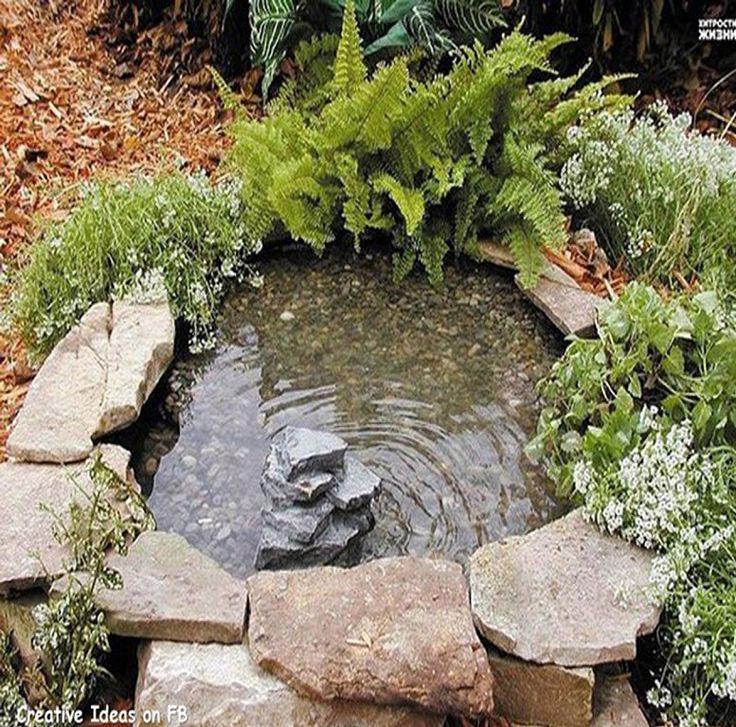 Las 25 mejores ideas sobre peque os estanques en for Cascadas en jardines pequenos