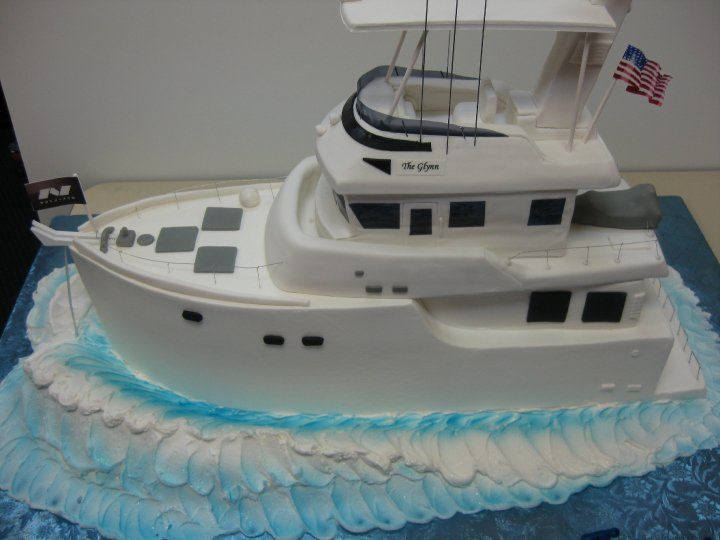 "Cruzing along in my ""boat"". wow an amazing cake"