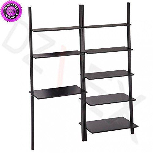 Terrific Dzvex New Modern Ladder Bookshelf Bookcase Leaning Ladder Download Free Architecture Designs Scobabritishbridgeorg