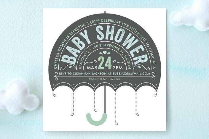 Ombrello Baby Shower Invitations by Karen Glenn at minted.com