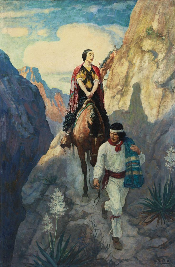 N. C. Wyeth (1882 - 1945) Ramona (Ramona and Allessandro on The Narrow trail