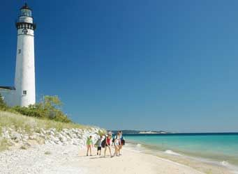 Traverse City, Michigan.  Sleeping Bear  Sand Dunes -- named the Most Beautiful Place in America by ABC News' Good Morning America.