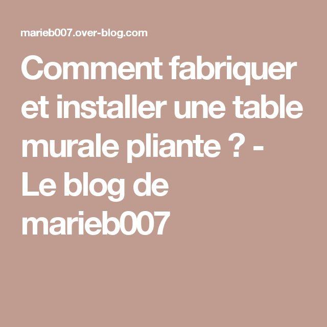 Comment fabriquer et installer une table murale pliante ? - Le blog de marieb007