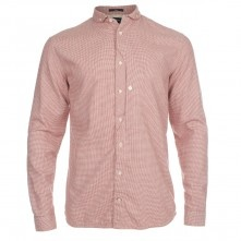 Paul Smith Shirts - Classic Fit Red Houndstooth Shirt