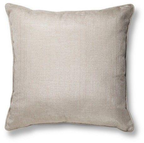 """Threshold Gold Oversized Metallic Throw Pillow (24""""X24"""")"""