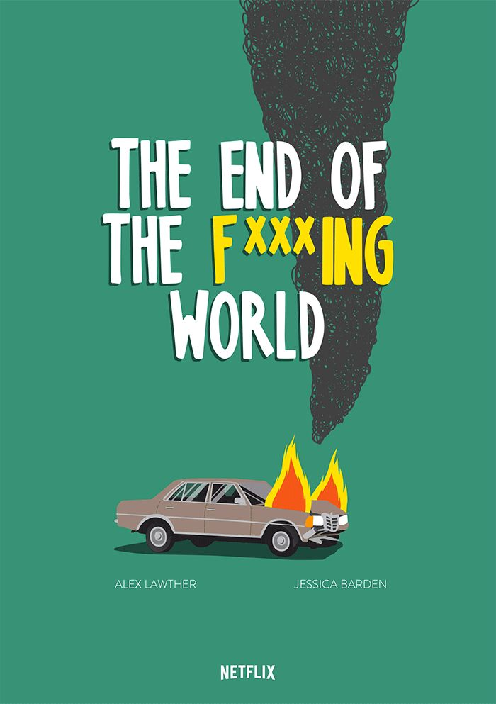 """Federico Gastaldi created an animated and still poster illustrations for the Netflix original series, """"The End of the F***ing World,"""" produced by Clerkenwell Films."""