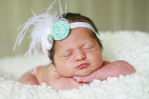 Three Little Pretties Rosette Headband by MadewithMommaLove, $12.00