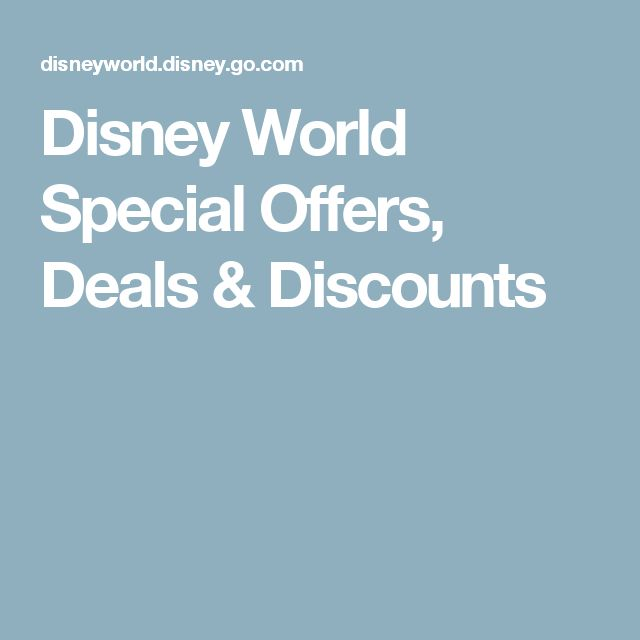 Disney World Special Offers, Deals & Discounts http://fave.co/2ttdmN1