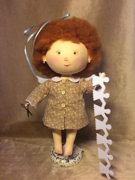 Кукла по мотивам картины  Гапчинской Я научилась от Lenatoys