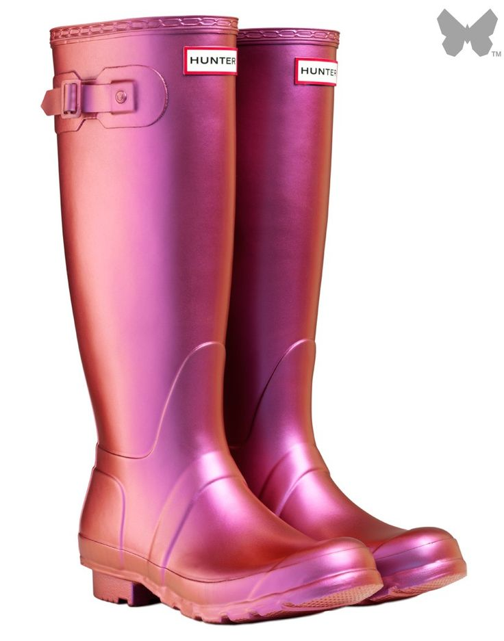 Hunter Original Pearlescent Wellington Boots - Purple