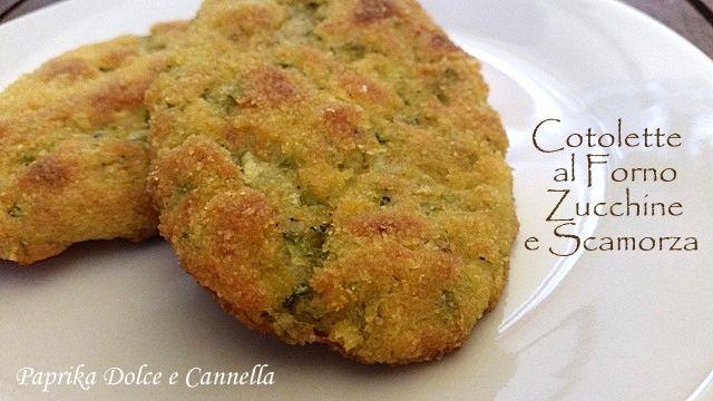Le Cotolette Zucchine e Scamorza, cotte al forno, sono state per me una vera scoperta! Un secondo piatto vegetariano croccante e saporito!!!