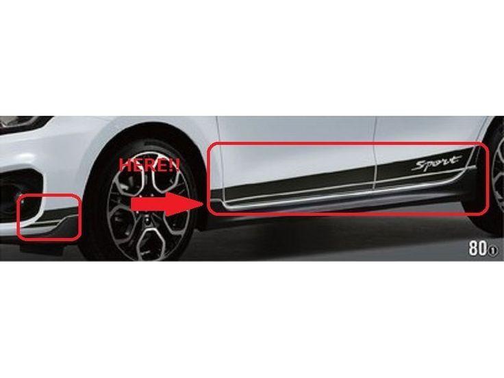 [NEW] JDM Suzuki SWIFT Sports ZC33S Side Decal Black Carbon Genuine OEM #Suzuki