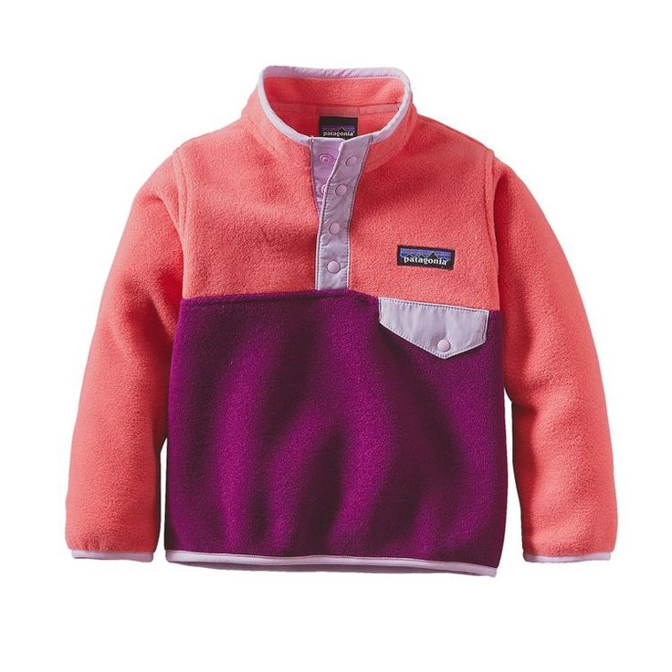 Patagonia Baby Light Weight Synchilla Snap-T Pullover- Violet Red from Shop Southern Roots TX