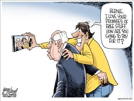 How Bernie Sanders will pay for all that Free Stuff |POLITICALLY INCORRECT CARTOONS