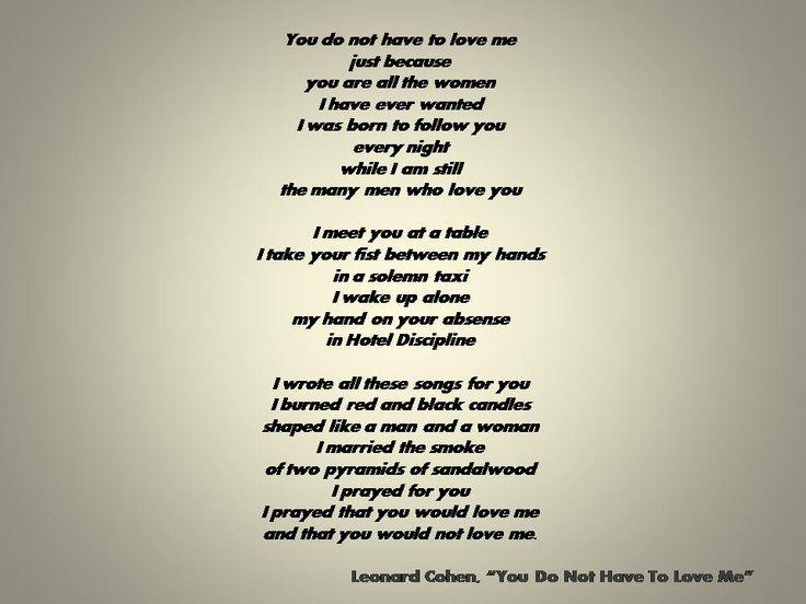 Leonard cohen so long marianne lyrics