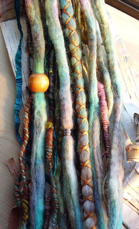 10pc Truquoise Dream Custom Order Tie-Dye Beaded Wool ...