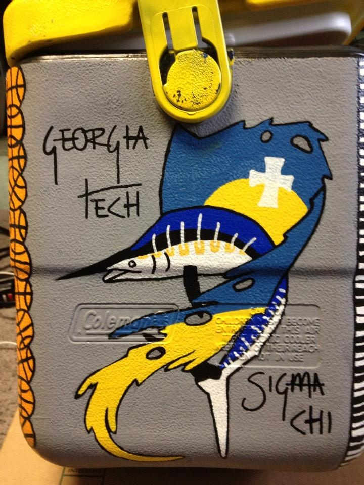 Rush Theta Xi, Georgia Southern University--do flag in the fish