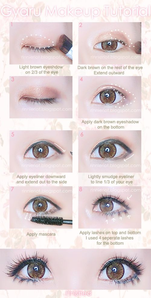 Gyaru eye makeup.