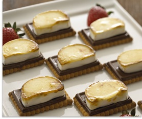 Smores made with brie cheese?!