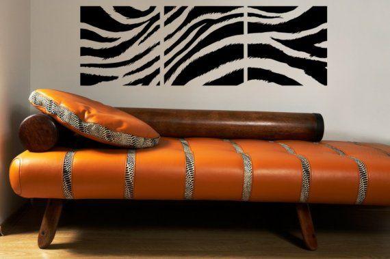 Hollywood Regency Decor Zebra Print muur door WallStarGraphics