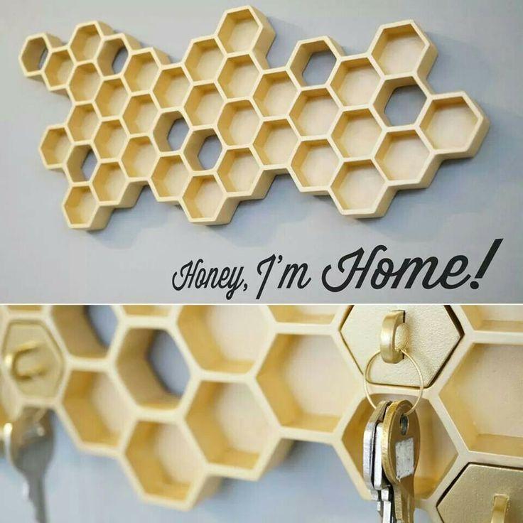 Honeycomb key rack