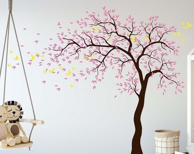Personalized Nursery Wall Decor Paper Flowers Wall Decor In Etsy Decoracao De Parede Decoracao Parede Sala Pintura Parede