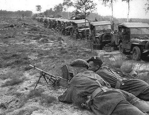 Market Garden, Jeep convoy, September 1944.
