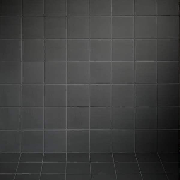 Mosa Matt Collection » Mosa. Tegels. Linker muur + achterwand met deze tegels + donkere voeg. Rechtermuur witte stuc.