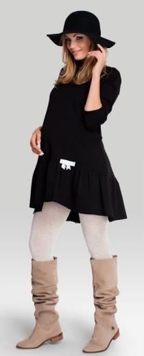 Lolita black хлопковая туника для беременных