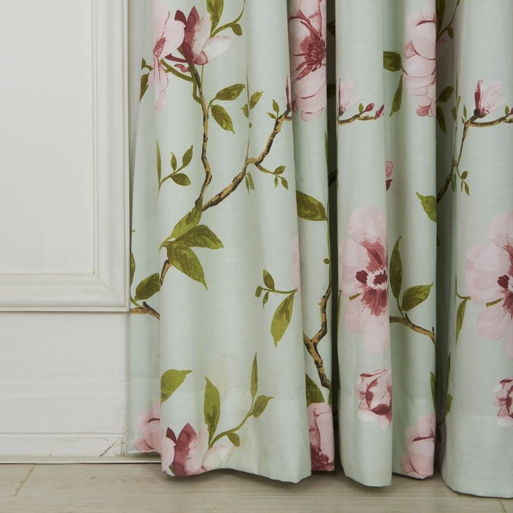 Country Flower and Leaves Eco friendly Curtain  #floral #curtains #homedecor #interiordesign