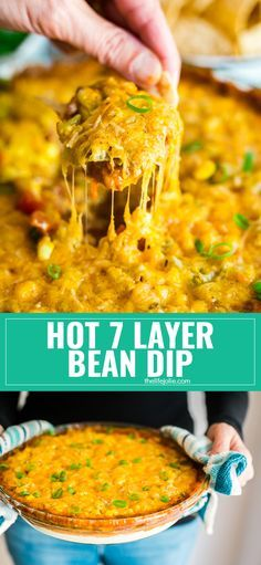 Sure, you've had traditional 7 Layer Dip but have you tried Hot 7 Layer Bean Dip? This will be an instant party or game day go-to recipe! It's quick and easy to put together and that melty cheese will have people fighting for more! via @thelifejolie