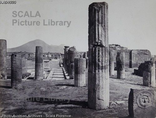 Scala Archives – The Civil Forum in Pompeii / Italy. About 1890.