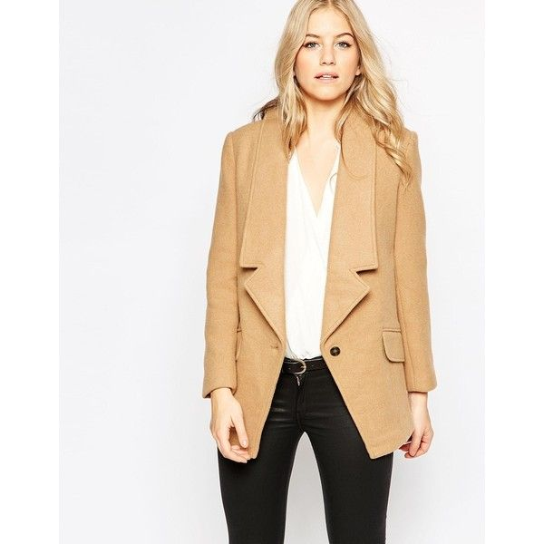 Parka London Wool Tuxedo Coat (735 SAR) ❤ liked on Polyvore featuring outerwear, coats, beige, wool coat, tuxedo suit, beige tuxedo, tall coats and beige coat
