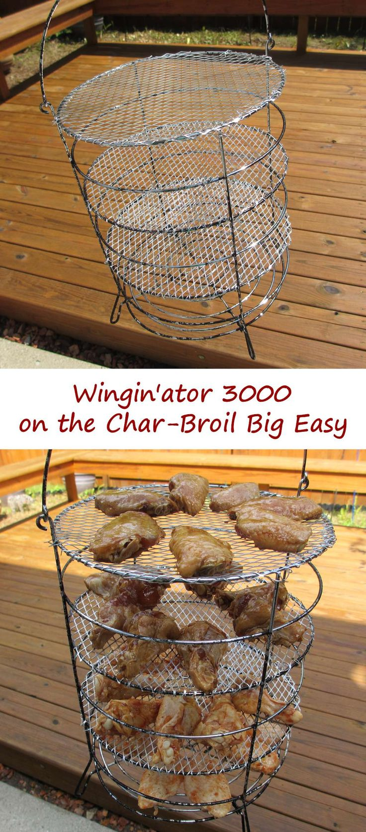 Wingin'ator 3000 on the Char-Broil Big Easy