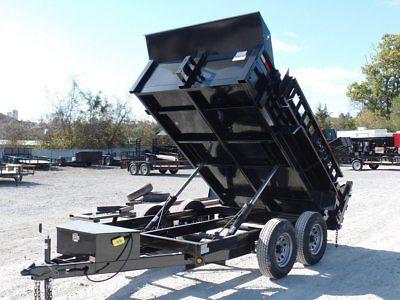 Dump Trailer 6' X 10' Landscape Equipment With 2 ft Sides