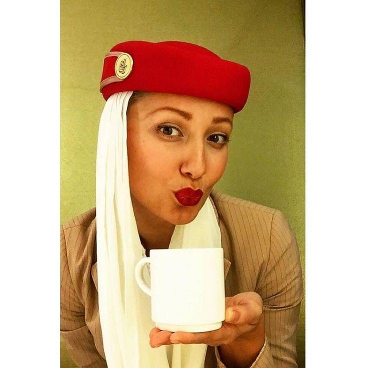 From @happytitova -  But coffee first И не имеет значения короткий #Бахрейн или длинный #Окленд. Кофе - это святое таинство перед полётом!  Люблю его...иногда с пенкой #love #travel #drinkcoffee  #red_lipstick_high_standarts #flywithemirates #emiratesairline #emiratescabincrew #emiratesstewardess #aviation #aviationlovers #traveling #travelaroundtheworld #boeing777 #a380 #crewlife #путешествия #redhats #дубаи #beautyoftheday #crewiser - #avgeek