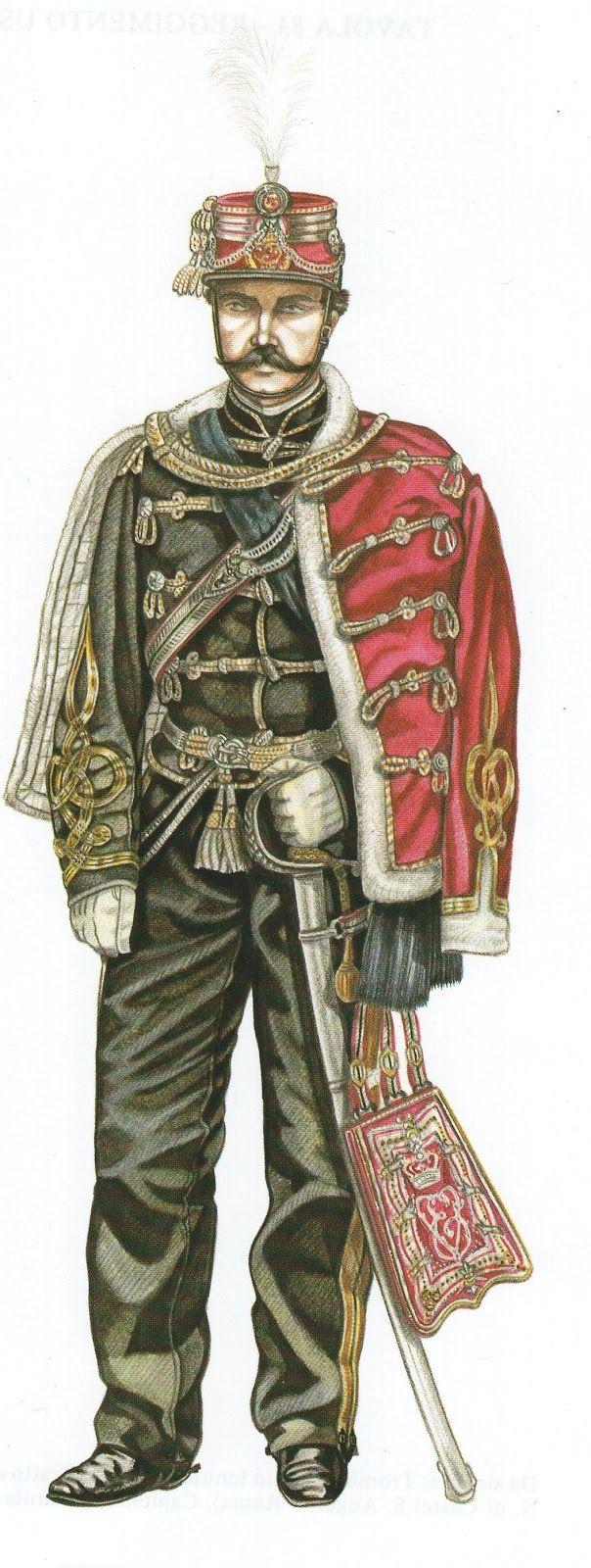 Ussari di Piacenza: Capitano in Gran tenuta.