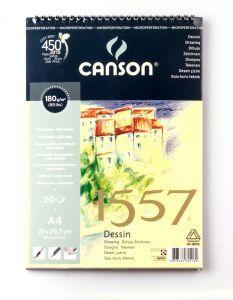 Canson 1557 Dessin Resim Ve Çizim Blok 180 gr. Spiralli A4 20 Sayfa