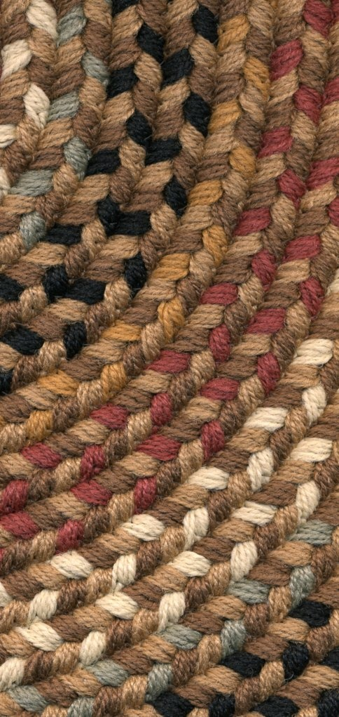 Rhody Rugs Pilgrim American Made Braided Camel Close Up
