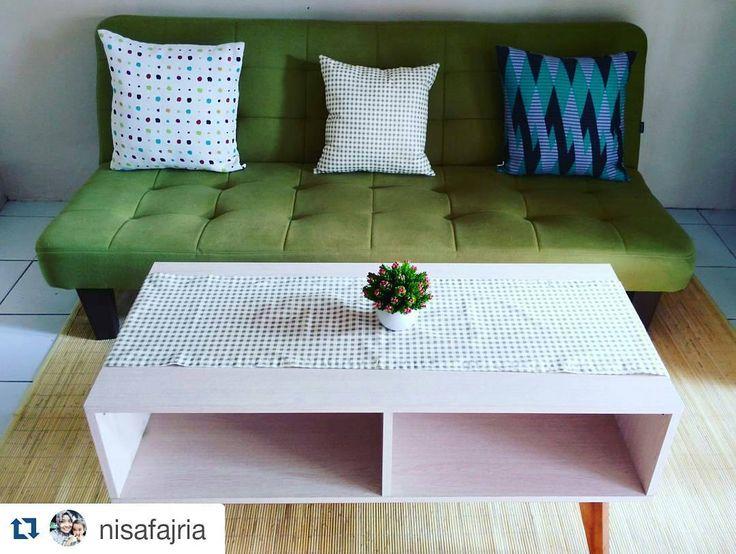 #Repost @nisafajria with @repostapp  ruang tamunya makin cantik berkat #bantalsofa dan #taplakmejatamu dari @tuturu.project  makasih @tuturu.project udah bikin ruang tamu kita jadi kece badai  tap for details  . . . . .#tinyhouse #arsitekrumah #ikea #ikeaid #bantalsofa #ruangtamucantik  #rumahidaman #rumahminimalis #furnitureminimalis #ilovehijau #greenisgood #rumahikea #rumahku #rumahminimalismodern #instadecor #scandinavia #scandinavian #smallspaces #smallroom #smallhouse #livingroom…