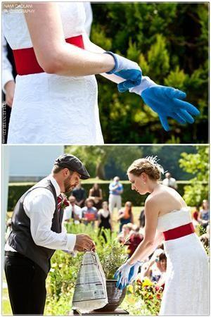 Garden Wedding. Plant a Tree ceremony