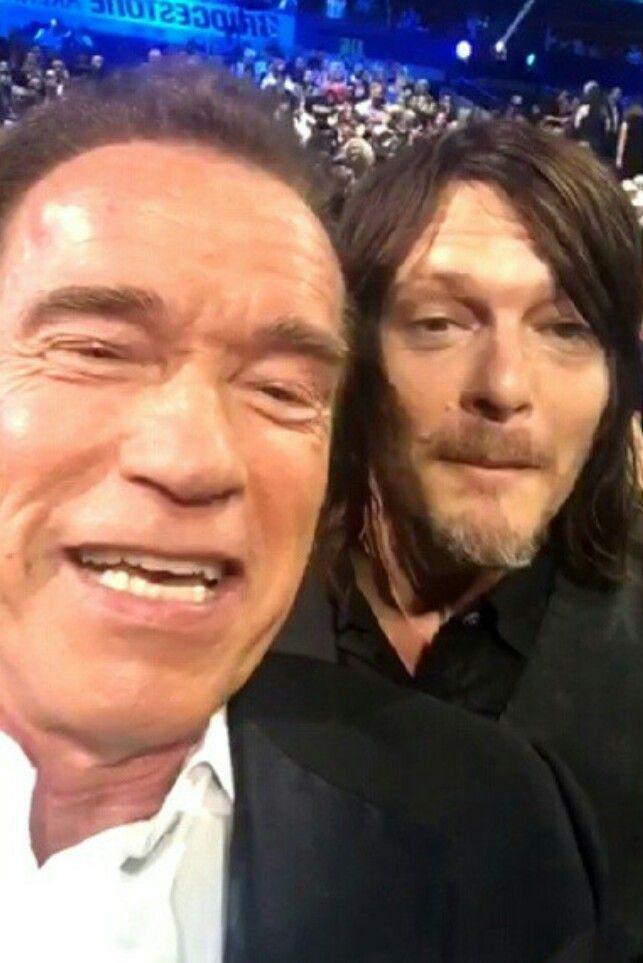 Arnold Schwarzenegger & Norman Reedus 6/10/15 #CMT