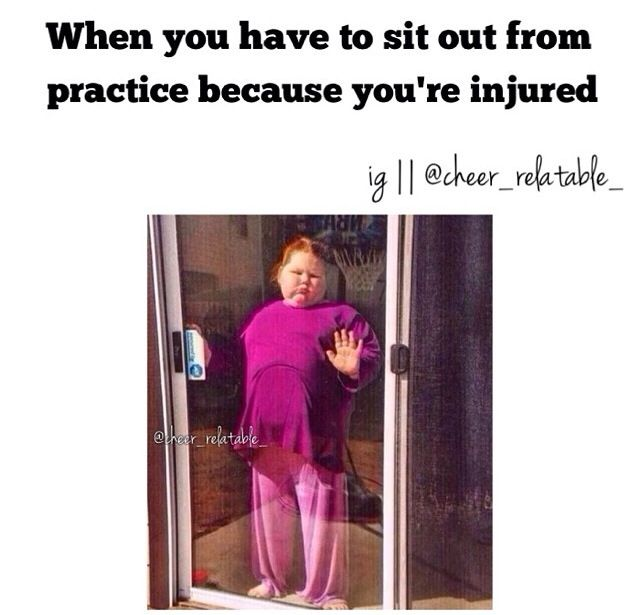 So true I broke my arm.. I went to every practice... Totally bored!!!!!!!! And disappointed