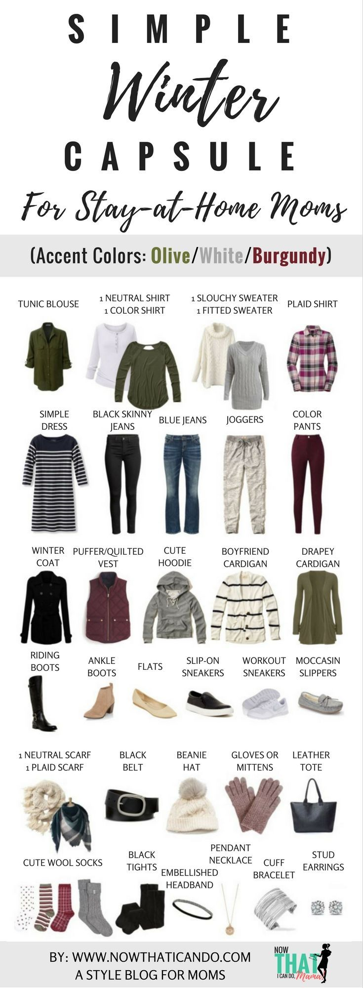 Basic Winter Wardrobe Plan (130+ Outfits) for Stay-at-Home Moms – FREE Download