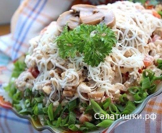 РЕЦЕПТ ВКУСНОГО САЛАТА С КУРИЦЕЙ » АЛЕКС «   Рецепты вкусных салатов