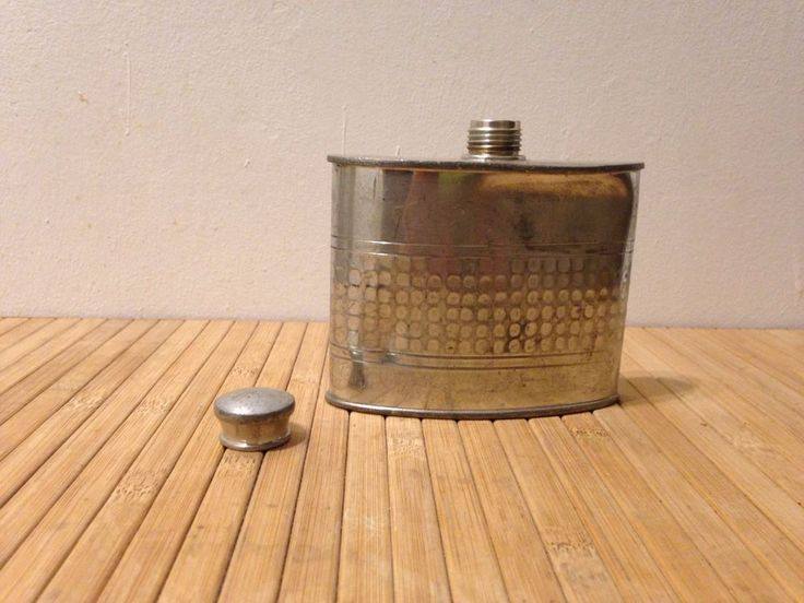 Vintage Selwin Pewter Hip Flask
