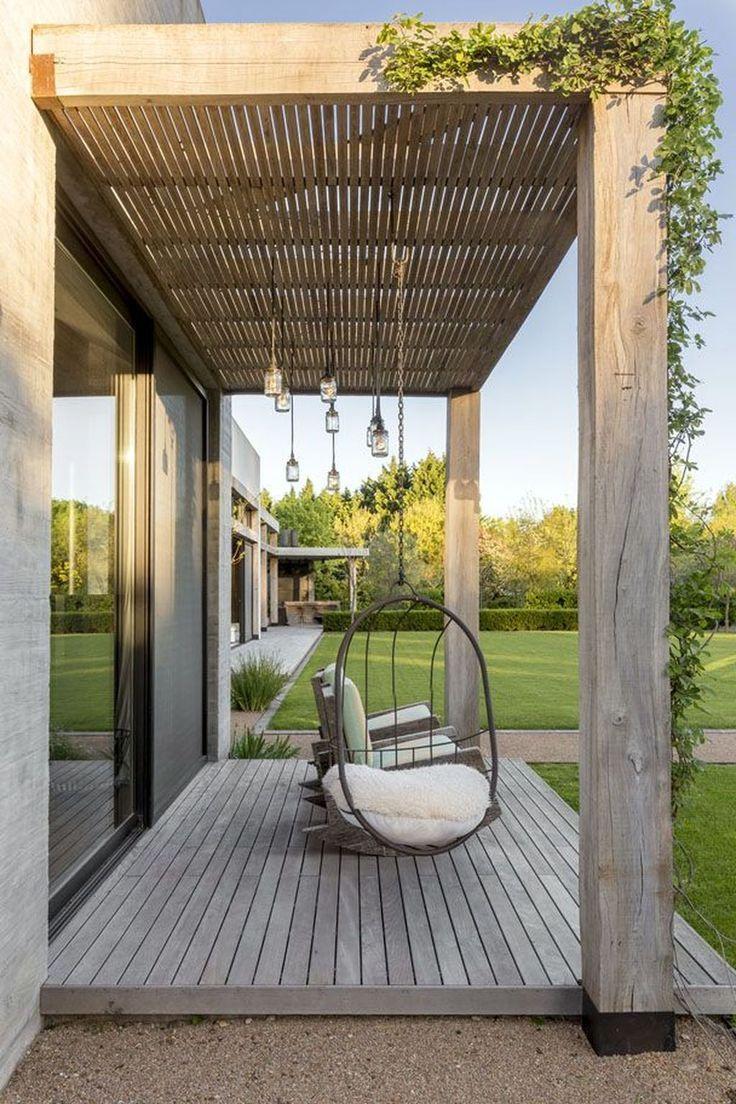36 Amazing Wooden Porch Ideas Terrassengestaltung