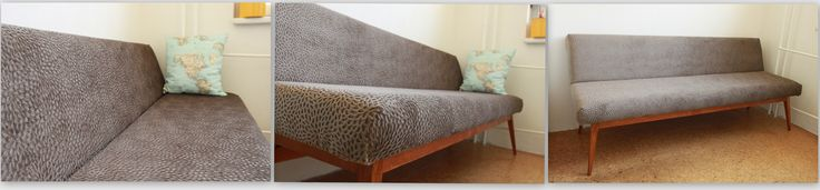 Renovated sofa. Fabric Alhambra - Sacha Col.  By Full Size Interior.