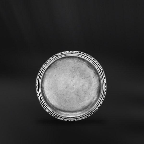 Pewter Coaster - Diameter: 11 cm (4,3″) - Food Safe Product - #pewter #glass #coaster #peltro #sottobicchiere #sottocoppa #zinn #glasuntersetzer #glas #untersetzer #étain #etain #sous #dessous #verre #peltre #tinn #олово #оловянный #tableware #dinnerware #table #accessories #decor #design #bottega #peltro #GT #italian #handmade #made #italy #artisans #craftsmanship #craftsman #primitive #vintage #antique
